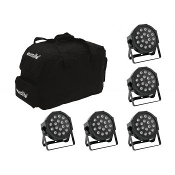 Eurolite Set 5 x LED SLS-180 + Softbag