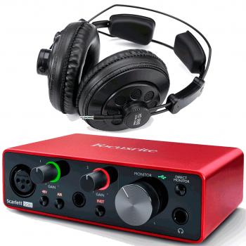 Focusrite Scarlett Solo 3ª Gen Interface Audio + Auricular Estudio Pro Superlux HD668