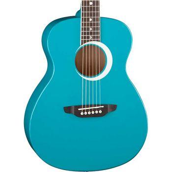 Luna Guitars Aurora Borealis 3/4 Teal. Guitarra Acústica