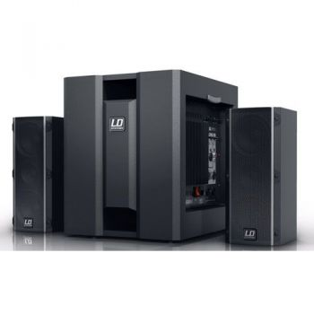 "LD SYSTEMS DAVE 8 ROADIE Sistema PA 2.1 Amplificado 8"""