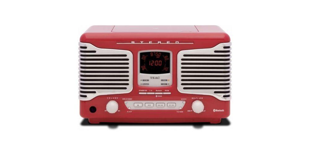 TEAC SL-D800 BT R Micro Cadena Retro, ROJO