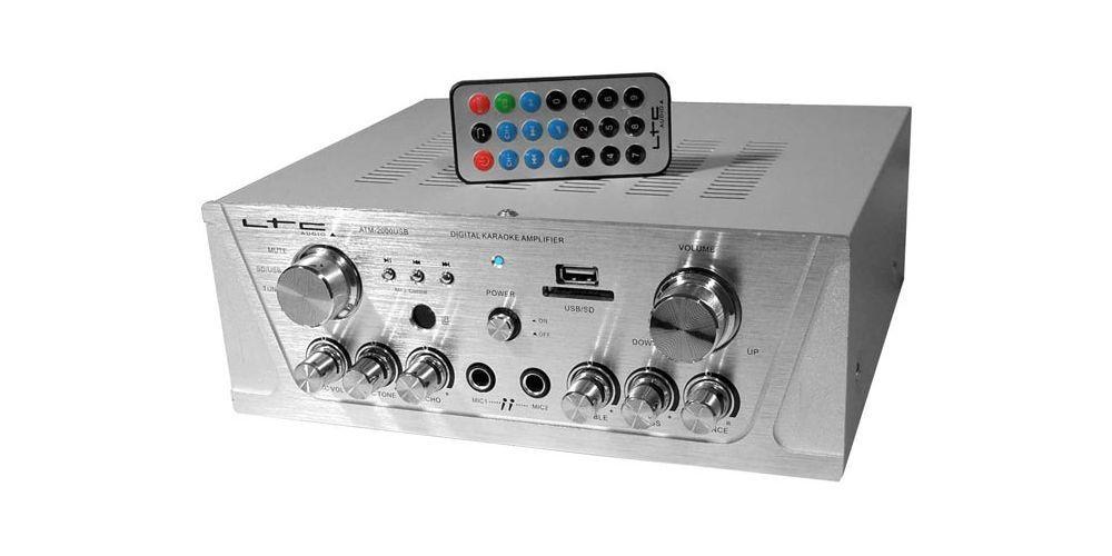 LTC ATM2000USB BT Amplificador Karaoke Bluetooth SD USB 2*50W