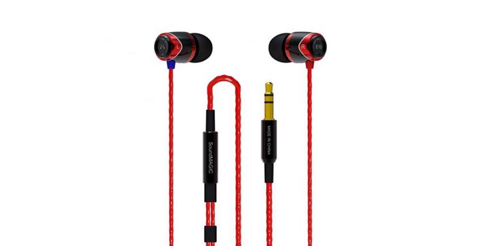 soundmagic e10 negro rojo