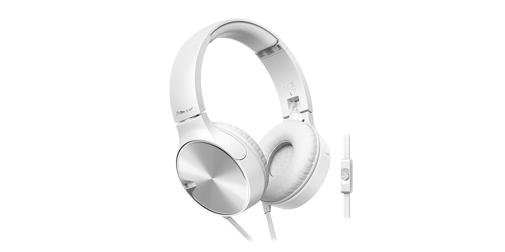 pioneer se mj722t w auriculares blancos control graves