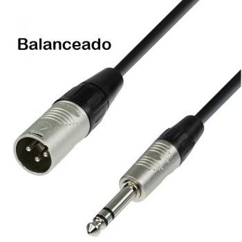 Cable XLR Macho Balanceado a Jack Stereo 10 metros Audibax