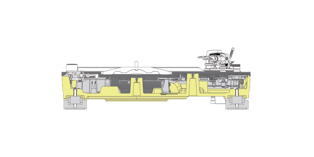 technics sl1200gr egs silver giradisco profesional detallle amortiguacion