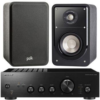 Pioneer A-10AEK+Polk Audio S-15 BK Conjunto Audio