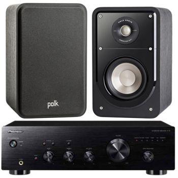 Pioneer A-10K+Polk Audio S-15 BK Conjunto Audio