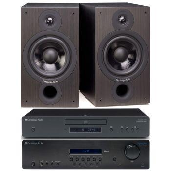 CAMBRIDGE TOPAZ SR-10+TOPAZ CD-5+SX60 BLACK Conjunto audio