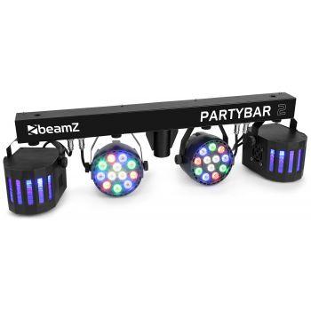 Beamz PartyBar2 2 PAR 12 x 1W RGBW 2 derby RGBW 153238