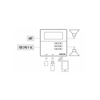Fonestar KS-06 Pareja Altavoces techo + Amplificador Pared