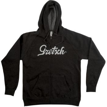 Gretsch Script Logo Hoodie Gray Talla L