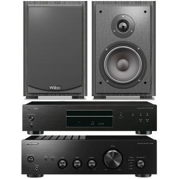 Pioneer A-10AEK+Pioneer PD10AEK+Wiibo Karino 400 Conjunto Audio