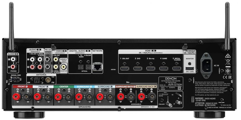 denon avr s750h receptor audio video home cinema avrs750h conexiones