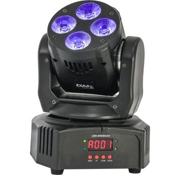 Ibiza Light LMH-MINI WASH Cabeza Movil Wash DMX 4 X 18 W RGBWA-UV 6-IN-1