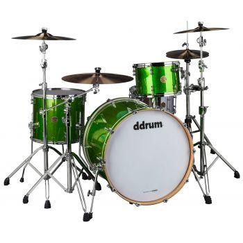 Ddrum Dios Maple 3 Piezas SH PK Emerald Green Sparkle. Set de Cascos de Batería Acústica