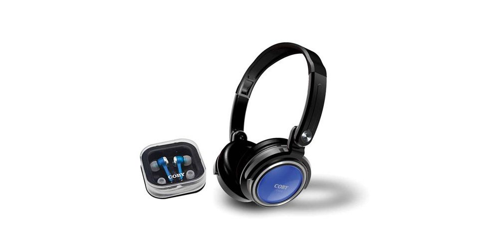 COBY CV215 Azul Plegable + Auriculares Tapón CV-215