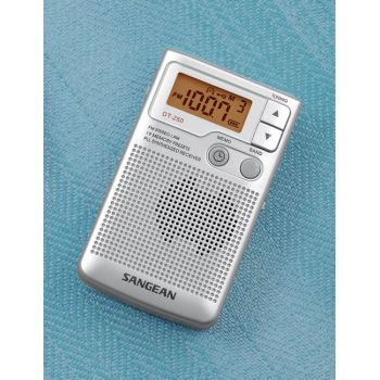 SANGEAN DT 250 plata Radio Bolsillo Digital FM-AM
