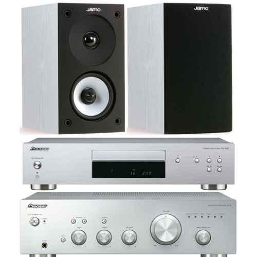 pioneer a10 silver amplificador pd10ae silver jamo s622 white