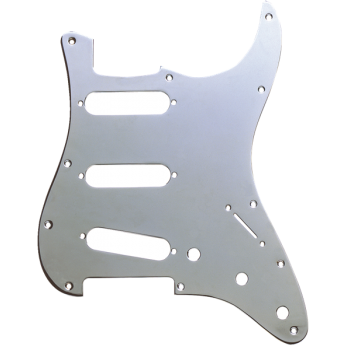 Fender Golpeador Stratocaster S/S/S 11 Agujeros de montaje Plata Cromado