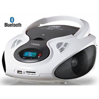 Lauson CP440 Radio CD USB Bluetooth Blanco