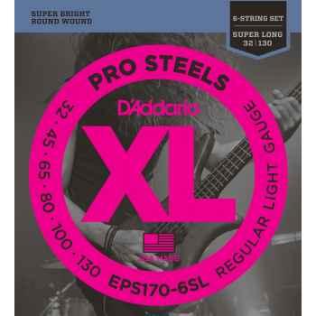 D´addario EPS170-6SL ProSteels 6-String Bass cuerdas para bajo