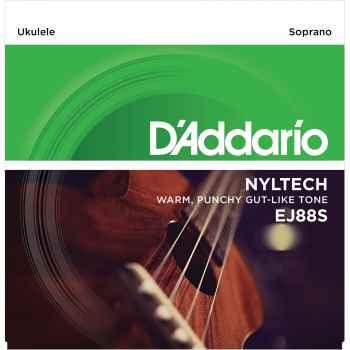 D´addario EJ88S Nyltech Soprano para ukeleles