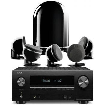 Denon AVR-X2500+FOCAL DOME 5.1 BLACK Conjunto Home Cinema