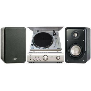 Equipo HiFi. Amplificador DENON PMA-520 S + Giradiscos Serwood PM9805 + Altavoces HiFi Polk Audio Signature S15