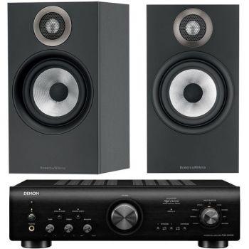 Denon PMA-800AE Black+BW 607 Black Conjunto Audio