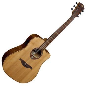 LAG T170DCE Guitarra Electro Acústica Formato Dreadnought con Cutaway