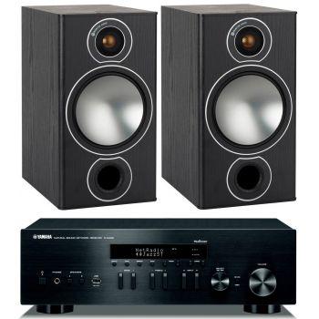 Yamaha RN-402 Black+Monitor Audio Bronze 2 Black Conjunto Sonido
