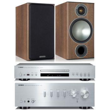 Yamaha AS301 Silver+CDS300+Monitor Audio Bronze 2 Cherry Conjunto Audio
