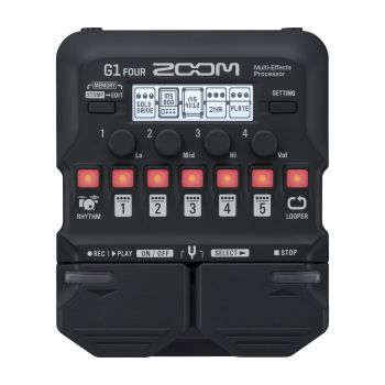 ZOOM G1 Four Pedal Multiefectos