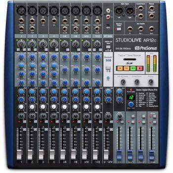Presonus StudioLive AR12C Mezclador Analógico de 14 Canales con USB-C