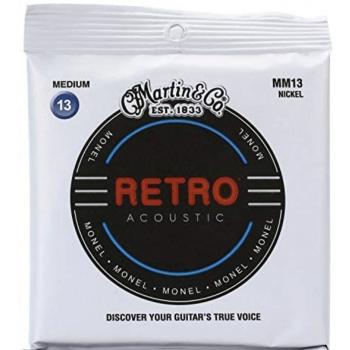 Martin MM13 Cuerdas Guitarra Acústica Retro Monel Medium 13-56