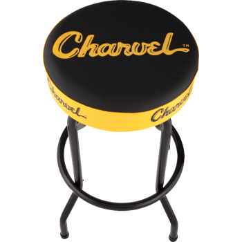 Charvel Taburete Logo Black-Yellow 30