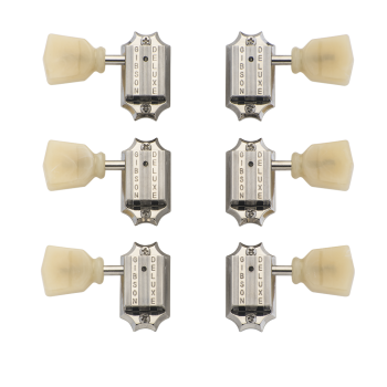 Gibson PMMH-050 Deluxe Yellow Buttons Set de Clavijeros Vintage Nickel
