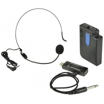 QTX UMIC-N Micrófono Inalámbrico UHF de Diadema Alimentado por USB Frecuencia: 863.2MHz