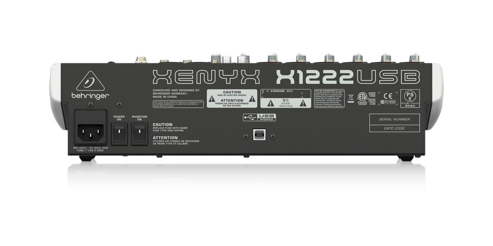 behringer X1222USB xenyx conexiones