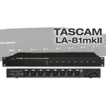 TASCAM LA-81MKll Convertidor de Linea Balanceado 8 Canales