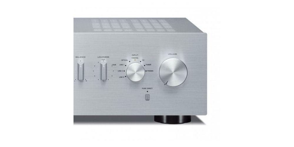 amplificador yamaha a s301 plateado detalle