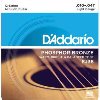 D Addario EJ-38 (010-047) Cuerda Guitarra Acústica