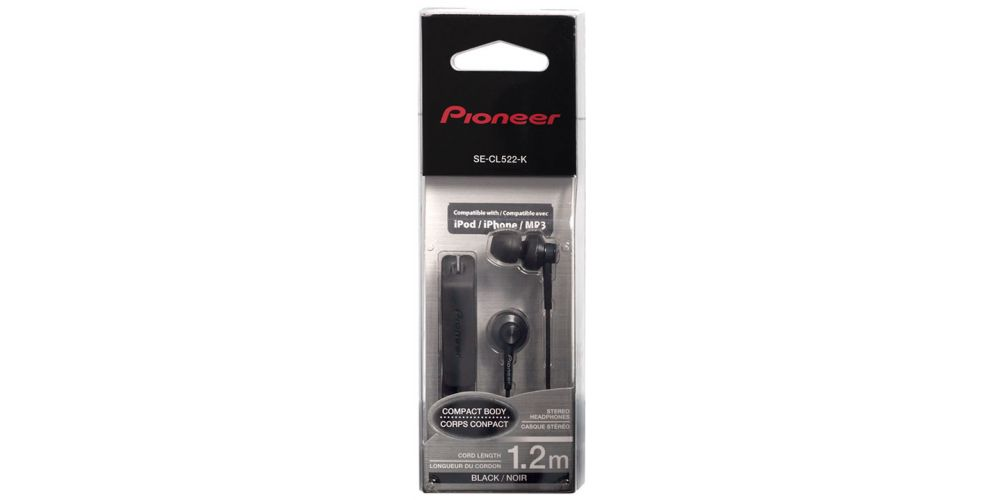 pioneer se cl522 k auriculares blister negro
