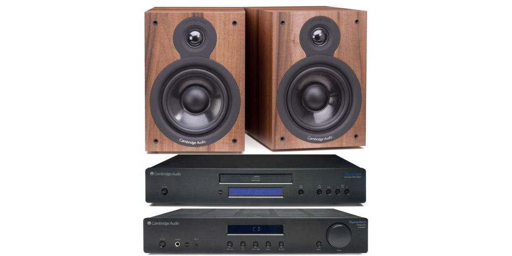 cambridge topaz am10 cd10 sx50 walnut amplificador estereo altavoces pareja