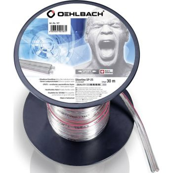 Oehlbach Silver Speaker Cable 2x2,50mm 30 metros Clear