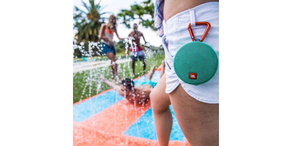 jbl clip 2 bluetooth altavoz portable color teal aguanyta salpicaduraagua