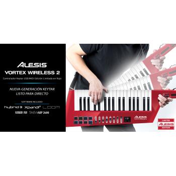 Alesis Vortex Wireless 2 Red Teclado