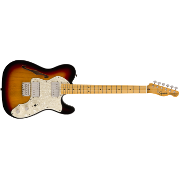 Fender Classic Vibe 70s Telecaster Thinline Maple Fingerboard 3-Color Sunburst