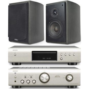 Equipo HiFi Amplificador DENON PMA-520 S + CD DCD-520S + Altavoces estantería Wiibo Karino 400